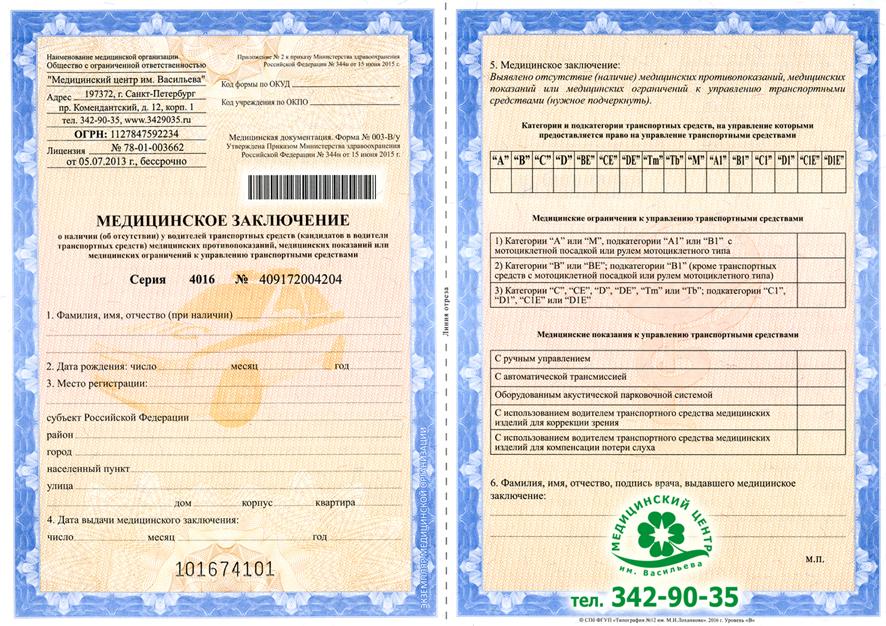 Медицинская справка форма 002 003 Справка из физдиспансера Шебашёвский проезд